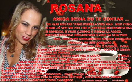 ROSANA AMIZADE TEMPO SUFICIENTE
